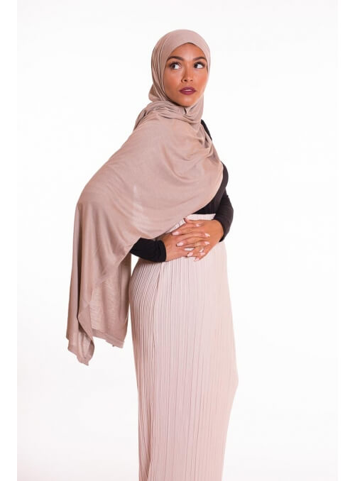 Hijab pure and cool taupe clair