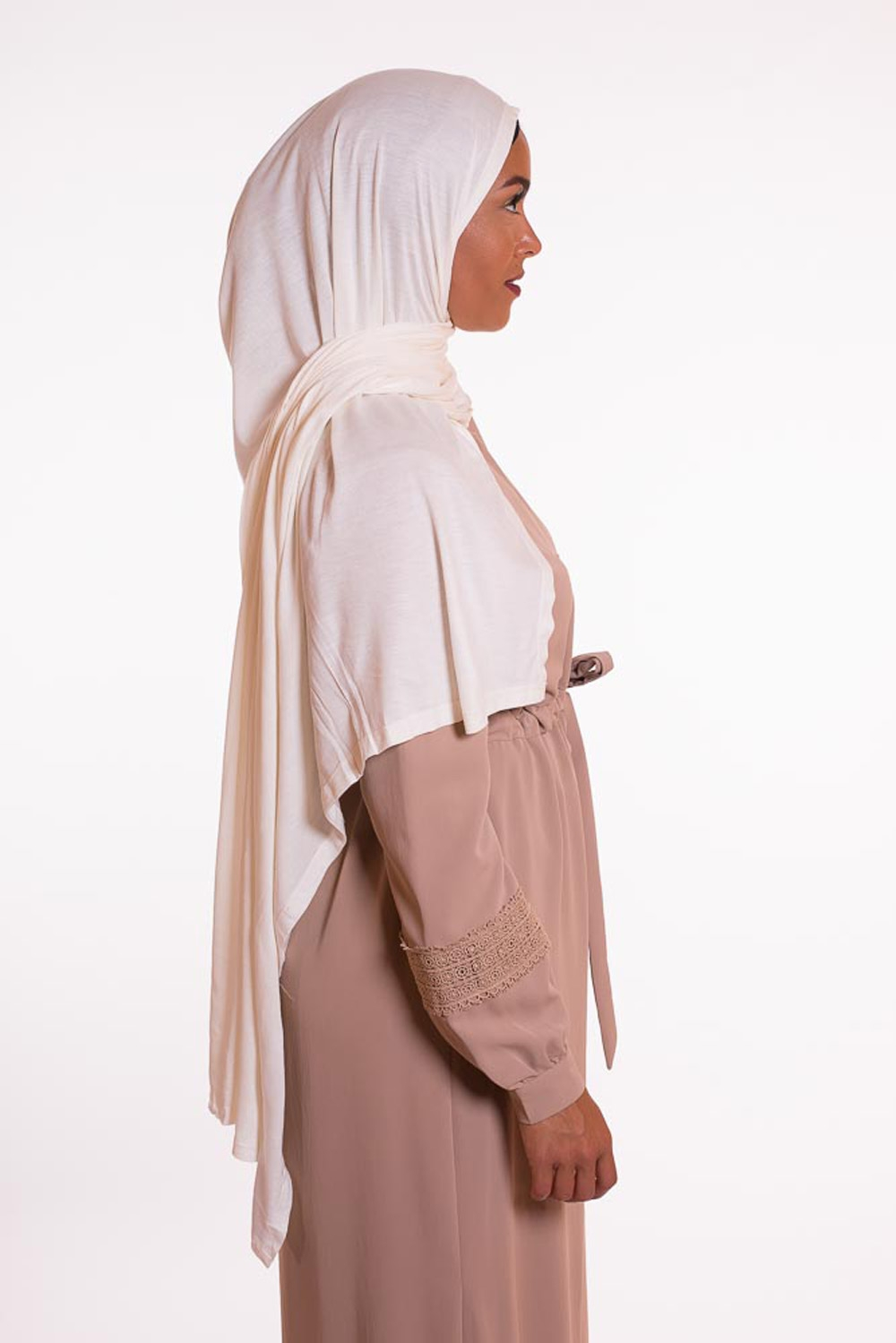 Hijab pure and cool blanc cassé