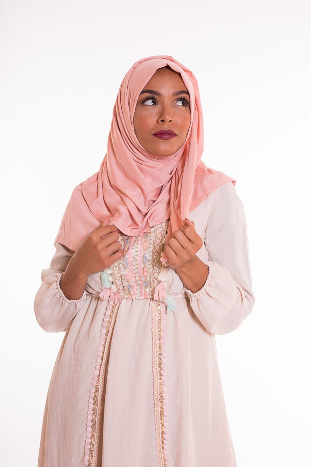 Hijab pure and cool rose clair