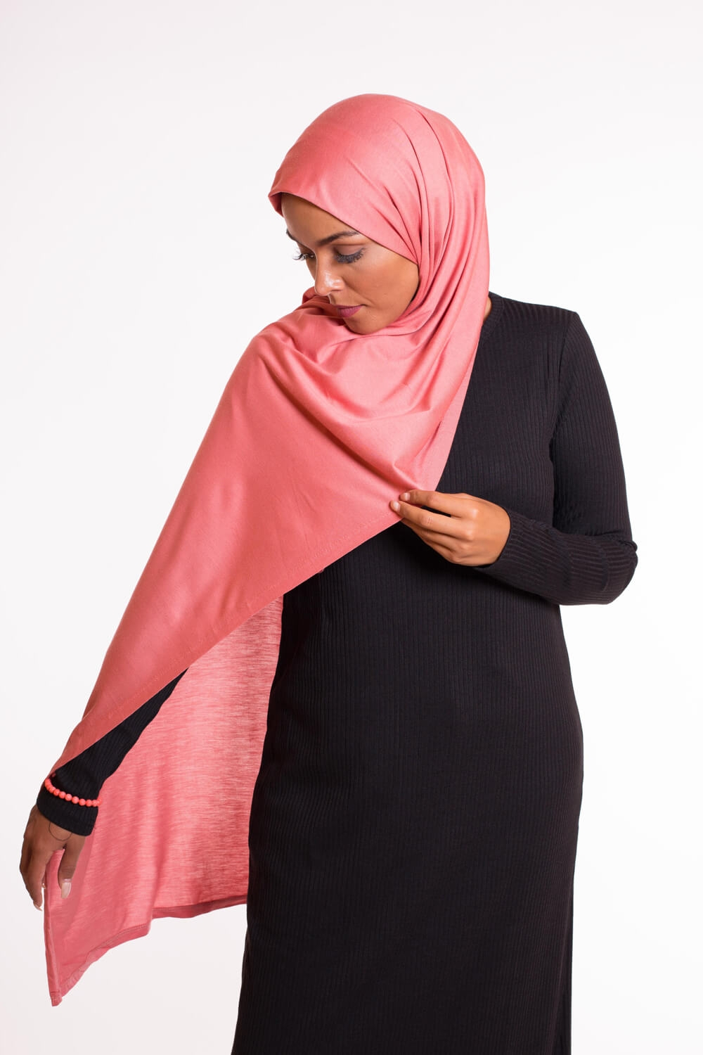Hijab pure and cool rose foncé