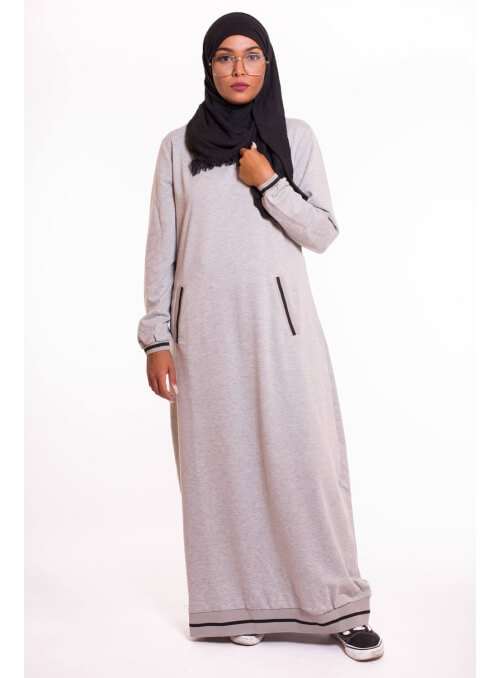 robe sweat grise boutique hijab femme musulmane
