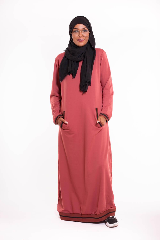 robe sweat safran