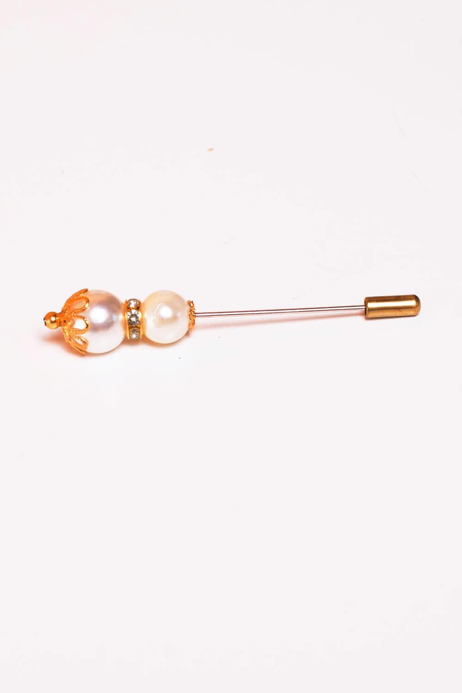 Epingle luxery grosse perles nacre