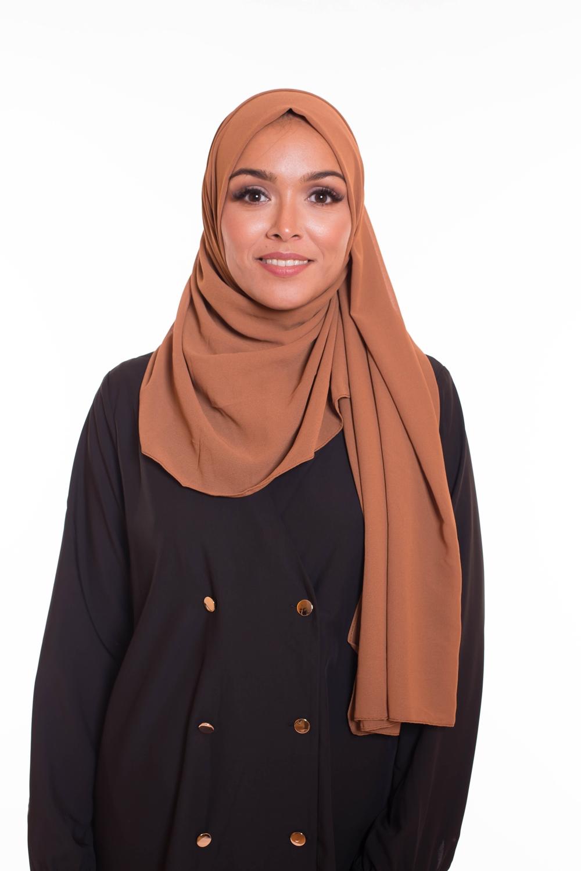 hijab xxl mousseline camel