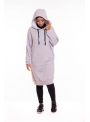 Sweat oversize gris long pour femme musulmane sport wear boutique hijab