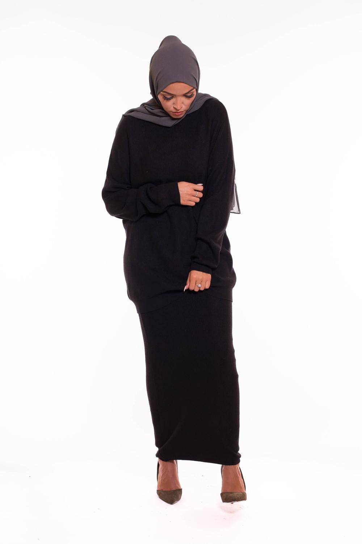 Ensemble tricot noir