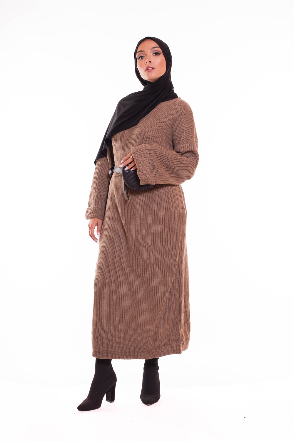 Robe tricot brown