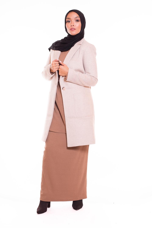 Manteau femme hiver beige