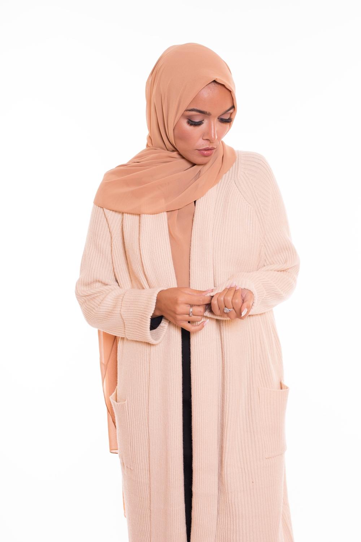 hijab xxl mousseline nude
