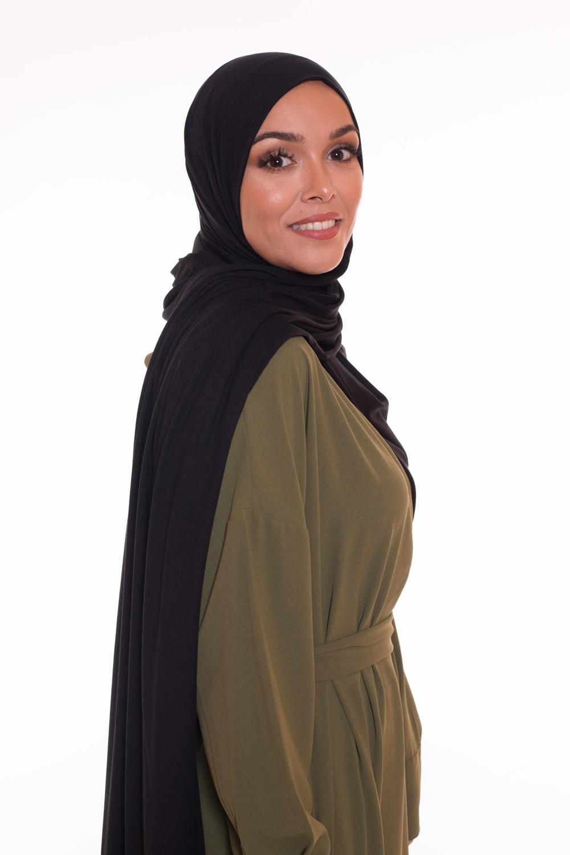 Maxi hijab jersey black