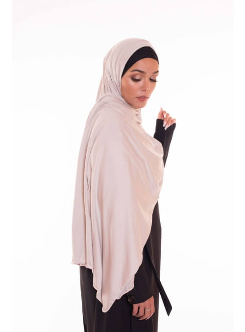 Maxi hijab jersey pewter boutique vêtement musulman