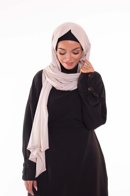 Maxi hijab jersey beige clair