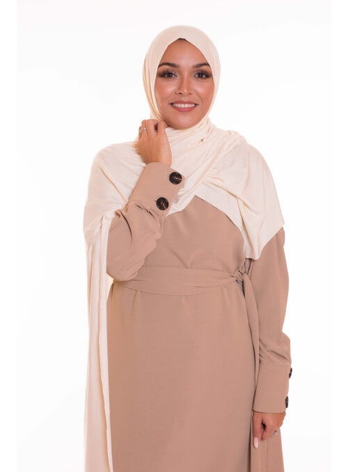 Maxi hijab jersey cream boutique vêtement musulman