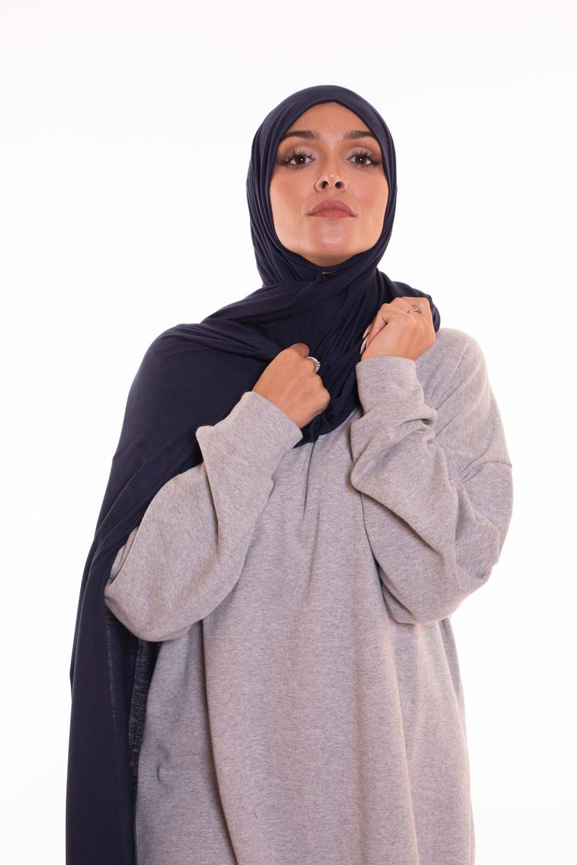 Maxi hijab jersey navy