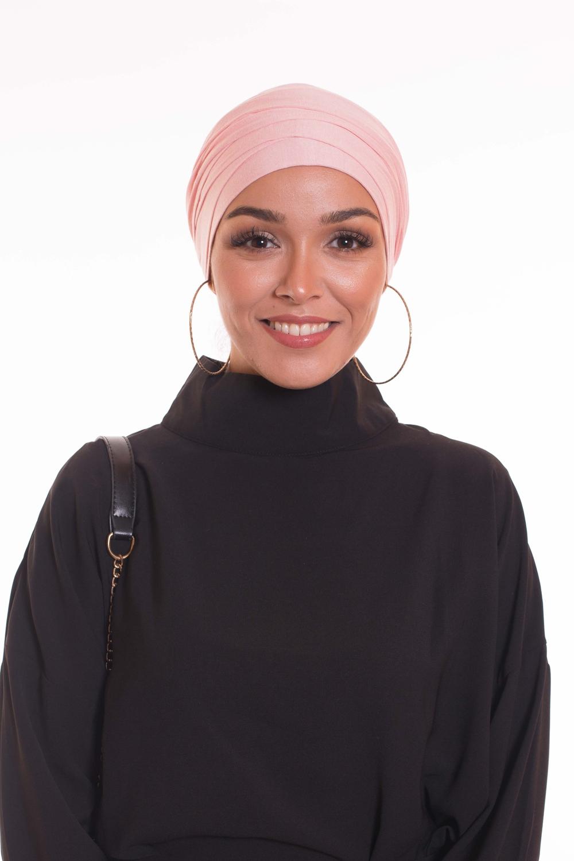 Turban multi croisé pink
