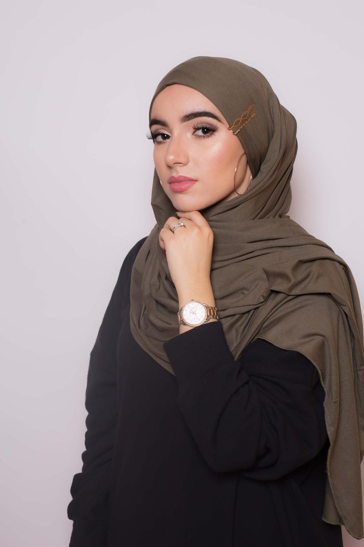 Maxi hijab jersey égyptien kaki