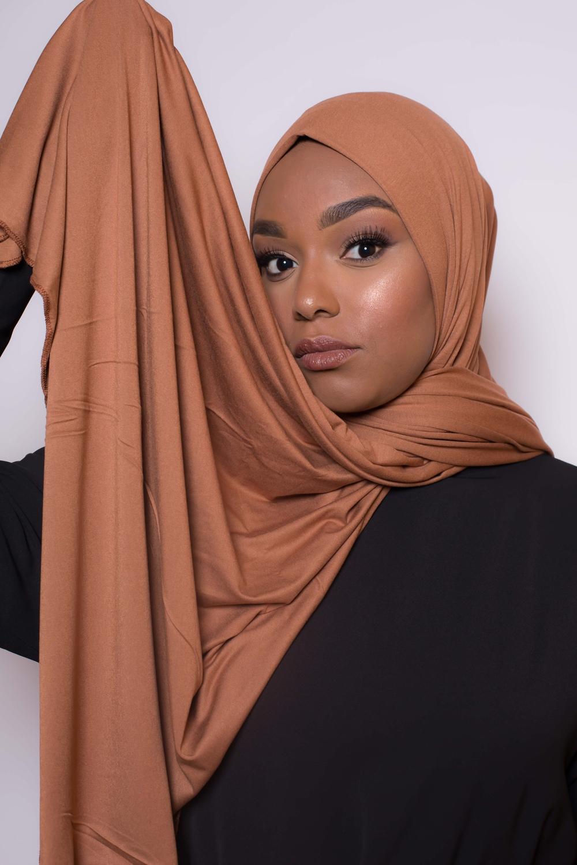 Maxi hijab jersey égyptien camel
