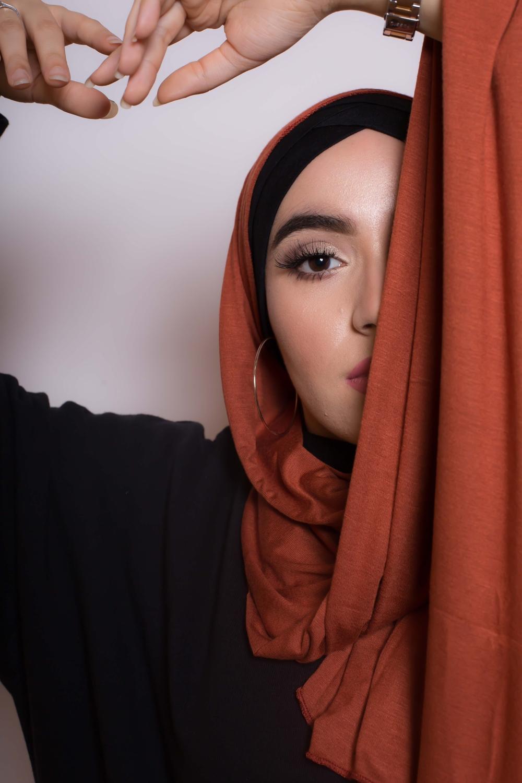 Maxi hijab jersey cuivre