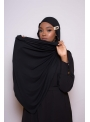 Maxi hijab jersey black boutique vêtement musulman