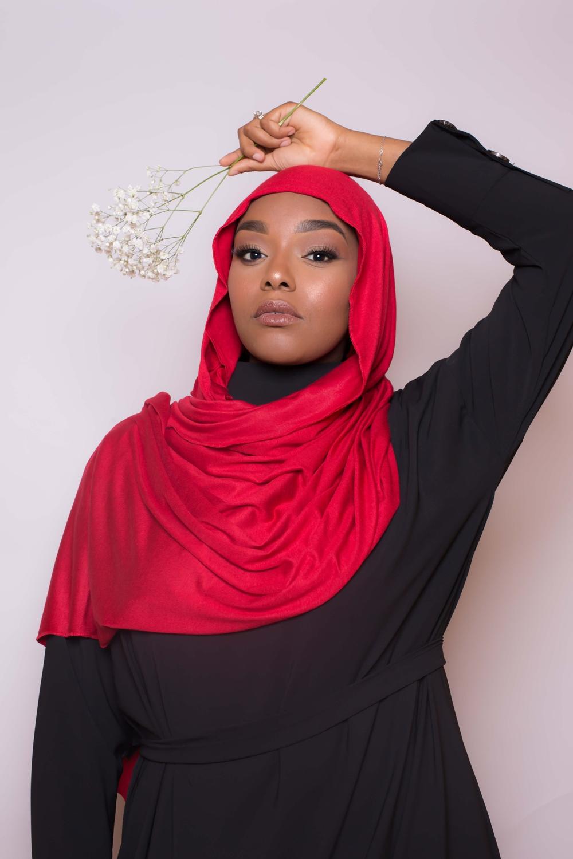 Maxi hijab jersey red