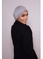 Bonnet turban gris boutique hijab