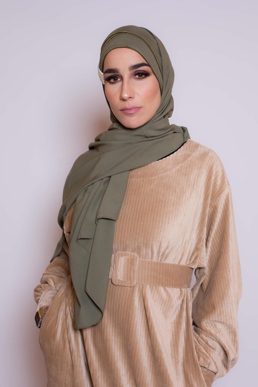 Hijab prêt à porter 4 saisons kaki