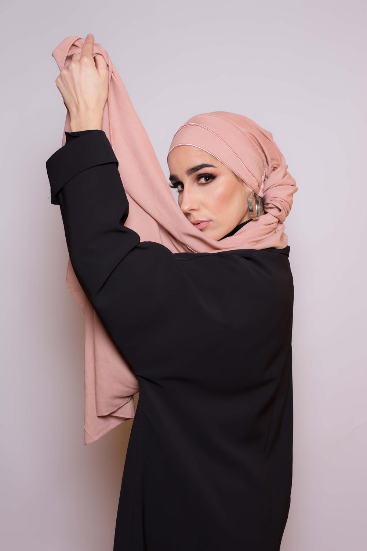 Hijab prêt à porter 4 saisons pêche rosé