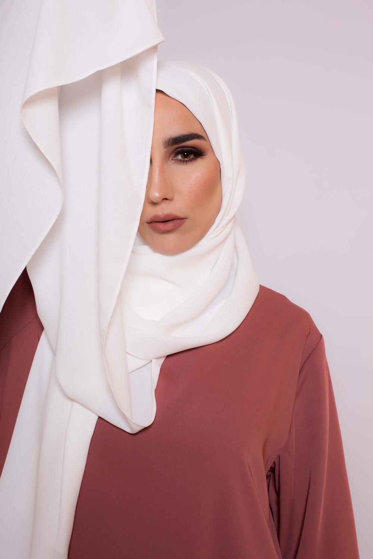 Hijab premium blanc