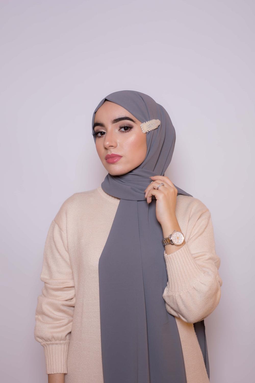 Hijab premium gris