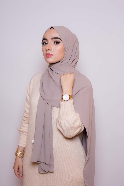 Hijab premium taupe