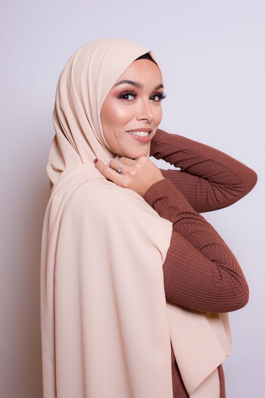 Hijab premium nude