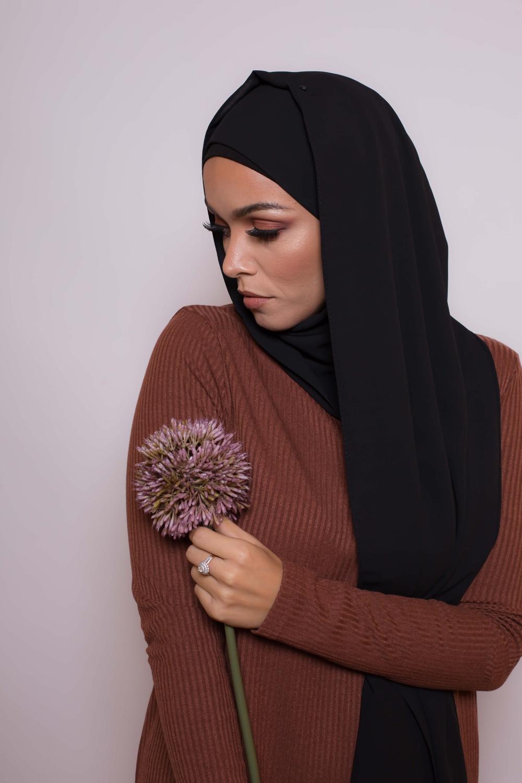 Hijab premium noir