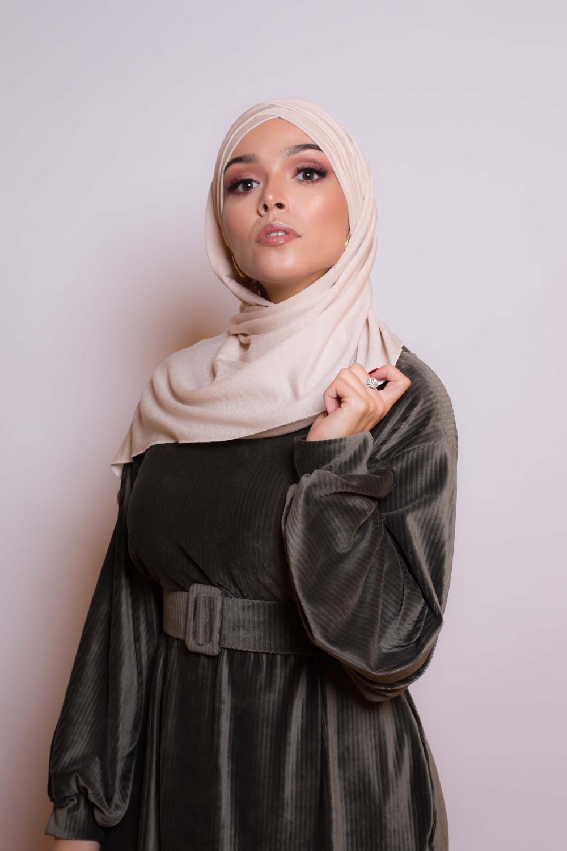Hijab prêt à porter winter beige
