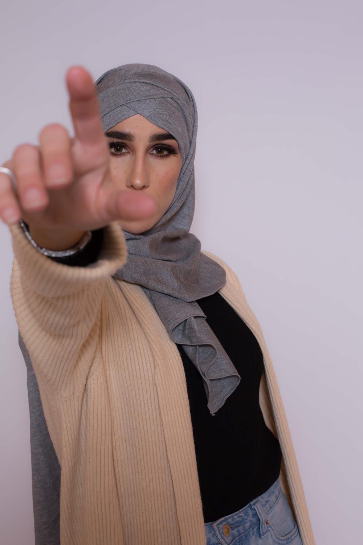 Hijab prêt à porter winter gris