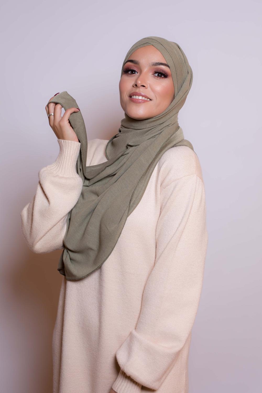 Hijab prêt à porter winter kaki