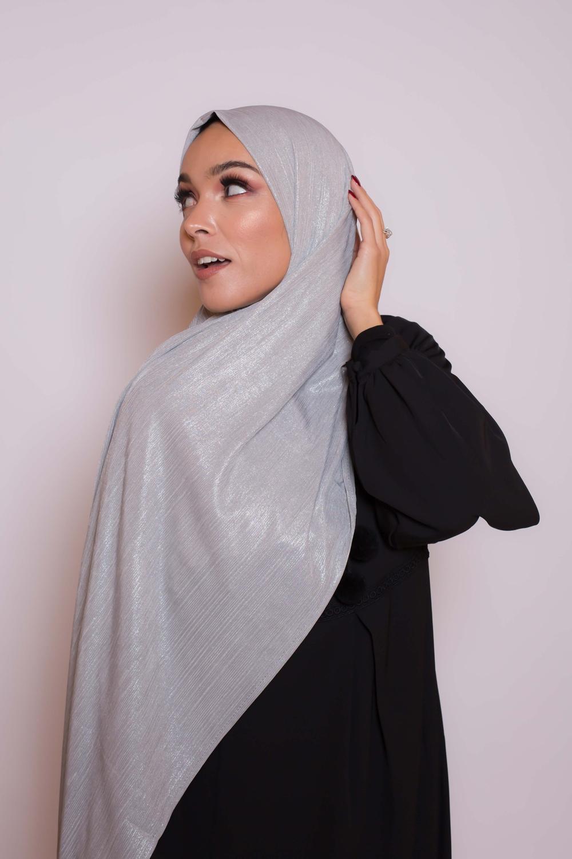 Hijab Lux orient argenté