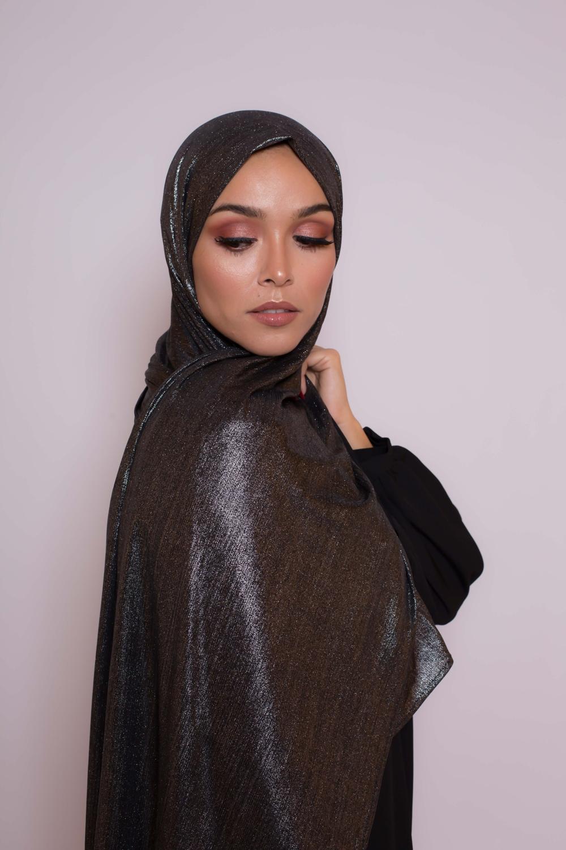 Hijab Lux orient noir agenté