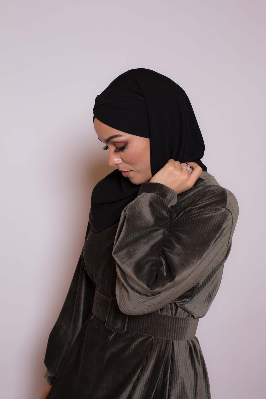 Hijab prêt à porter winter noir