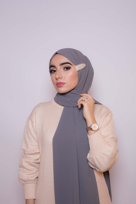 Lot de trois barrettes hijab rec
